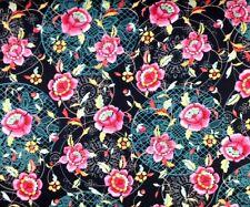 Red Rooster BOHEMIAN ROSE-BLACK PAISLEY 100% Cotton Premium Fabric-Per 1/2 Yard