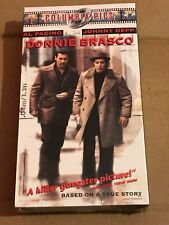 NEW SEALED Donnie Brasco VHS 2000 Johnny Depp Al Pacino Gangster Drama