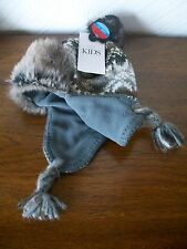 Boys' Fleece Lined Fur Trim Pull-on Helmet (6-10 Years), Marks & Spencer, BNWT