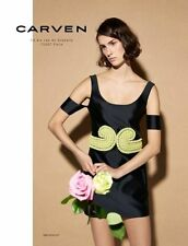 NWT $1375 Carven Runway RTW S/S 2014 Mikado Off Shoulder Dress US 4, FR 36