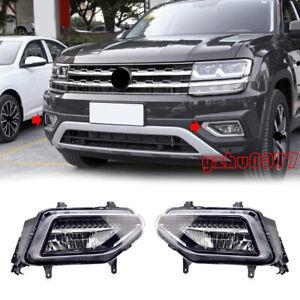 2018 2019 Fit For Volkswagen Atlas LED Front Bumper Fog lights Left & Right 2pcs
