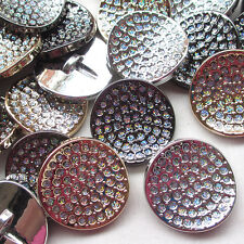 Mix 9pcs 35mm Big Plastic Coat Buttons Powder Enamel Sewing Craft
