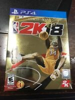 NBA 2K18 LEGEND GOLD PS4 NEW NIB PLAYSTATION 4 250,000 VC SHAQ
