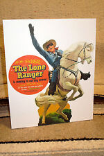 """Lone Ranger Tabletop Display Standee Movie Poster 8 1/2"""" X 10 1/2"""" Tall"""