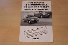 70688) Fiat Seicento Young + Hobby - technische Daten & Ausstattungen - Prospekt