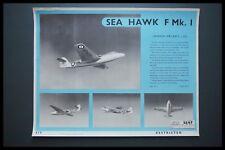 HAWKER SEA HAWK F MK.1 COLD WAR ERA AIRCRAFT 1951 IDENTIFICATION RECOGNITION