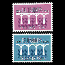 Iceland 1984 - Europa stamps - Sc 588/9 MNH