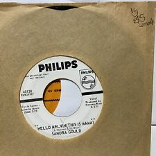 Sandra Gold Hello Melvins This Is Mama- Philips 40138 VG Comedy 45