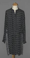 Noa Noa Viscose-Kleid schwarz-weiß Gr. 44/46 neu