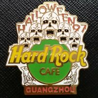 GUANGZHOU CHINA 🇨🇳 Hard Rock Cafe ® HRC PIN 1997 HALLOWEEN 5 Screaming SKULLS