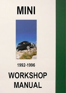 MINI WORKSHOP MANUAL: 1992-1996