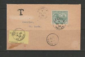 Anguilla 1932 Panton cover, with St Kitts 1/2d, Pmk VALLEY, ANGUILLA, with St Lu