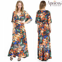 Women Maxi Long Prom Floral Sexy Evening Party Dress UK Plus Size 20 22 24 26 28