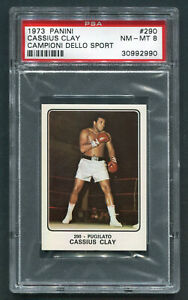 1973 Panini Campioni Cassius Clay Muhammad Ali PSA 8 NM-MINT hot boxing card!