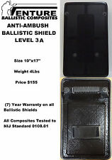 Ballistic Shield - anti ambush  (bullet proof shield)
