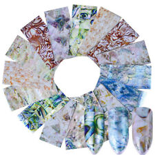 16 Designs Gradient Marble Nail Art Water Decals Transfer Stickers Nails Decor