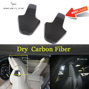 For BMW 8 Series F91 F92 F93 M8 2020UP 2PCS Seat Back Cover Trim Dry Carbon
