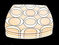"""TARGET HOME ODEON PLATINUM PATTERN SQUARE 10""""+ DINNER PLATES LOT of 4 ~ EUC"""