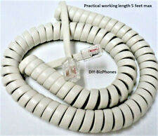 9 Ft Phone Handset Cord Replacement New in Factory Bag Generic Off White Short