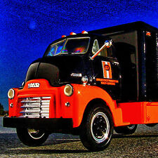 RARE HTF - 1952 HARLEY DAVIDSON / CUSTOM CHROME GMC CabOver Truck -  First Gear