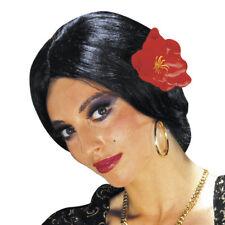 SCHWARZE FLAMENCO PERÜCKE # Karneval Spanierin Tänzerin Damen Kostüm Party 6006