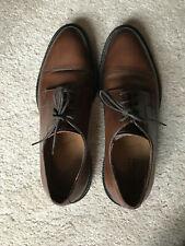 Men's Barneys New York Burnished Cap-Toe Bluchers (Brown, 9)