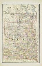 Large 1883 Cram's Map of Dakota (Territory)