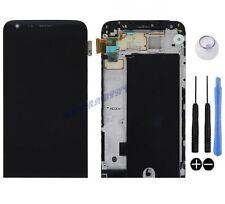 ECRAN LCD + VITRE TACTILE SUR CHASSIS BLOC COMPLET ASSEMBLE POUR LG G5 H850 NOIR