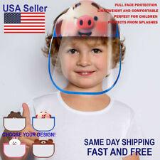 Kids Face Shield Mask Protective Children Cartoon Reusable Washable No Fog Visor