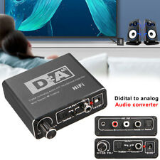 192kHz Digital Optical Coaxial Toslink to Analog RCA L/R 3.5mm Audio Converter
