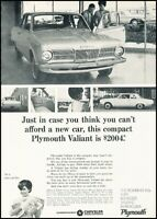 1965 Plymouth Valiant in Dealership Original Advertisement Print Art Car Ad J491