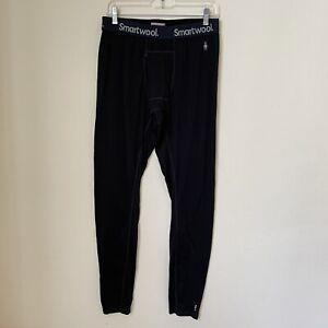 Smartwool Men's Sz Large Black Merino 150 Base Layer Bottoms Wool Blend Pants
