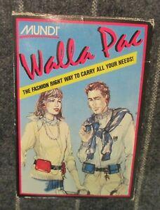 Walla Pac by Mundi - Vintage Walkman Soft Case - New Vintage Old Stock 1980's