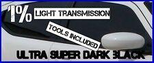 Ultra Oscuro Espejo Negro 1% Ligth trans coche ventana de entintado película 3mx75cm tint+kit
