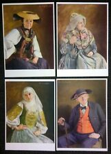 ARTIST POSTCARD R. NITSCH: THÜRINGERIN 1936 LAGERNUMME LOT OF 18  VERY RARE
