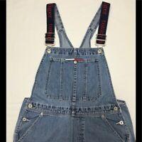 Vintage 80's Tommy Hilfiger Overall Denim Shorts Women's Size M Streetwear