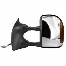 2001-2007 FORD F250 F350 HEAT POWER SIGNAL CHROME TOW MIRROR DRIVER/ LEFT SIDE
