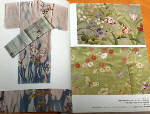 Floral design Japanese KIMONO Picture book Meiji Taisho Showa eras in Japan#1159