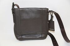 TUMI Padua Brown Leather Map Crossbody Bag Style 68603