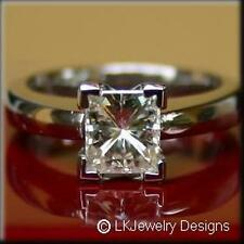 One Ghi Solitaire Engagement Ring 2.20 Ct Moissanite Princess Forever