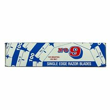 100-PACK .009 #9 Single Edge Razor Blades DOUBLE HONED MADE IN U.S.A.