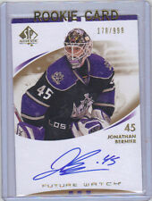 07-08 SP Authentic Jonathan Bernier Auto Rookie Card RC Future Watch #219 /999