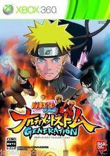 Used Xbox 360 Naruto Shippuden storm MICROSOFT JAPAN JP JAPANESE JAPONAIS IMPORT