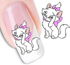 Nail Art Sticker Water Decals Transfer Stickers Lady Cat Marie (DX1254)