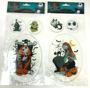 (2) Disney Nightmare Before Christmas Gel Window Cling Jack & Sally Oogie Boogie