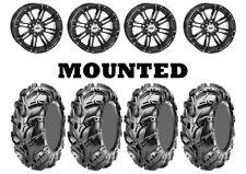 Kit 4 CST Wild Thang CU05 Tires 25x8-12/25x10-12 on STI HD3 Gloss Black IRS