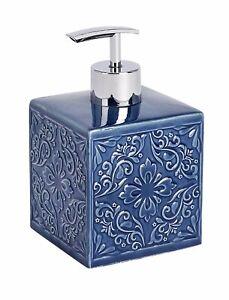 Wenko Cordoba Dark Blue Ceramic Soap Dispenser 22653100