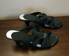 East 5th Womens Sandals Fabric Strappy Slide Size 6.5M EUC