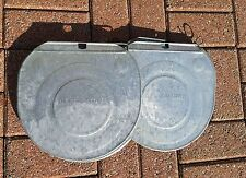 5 OLD 'GRIMM' GALVANIZED Sap Bucket COVERS LIDS Maple Syrup VERY NICE!