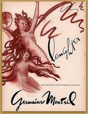 1946 Germaine Monteil  Laughter Perfume Print Ad Beauty Art